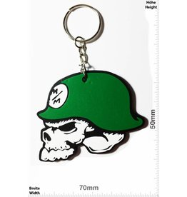 Monster Energy Metal Mulisha - Skull - Totenkopf - green