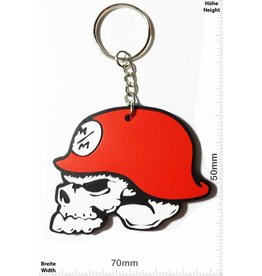 Monster Energy Metal Mulisha - Skull - Totenkopf - red