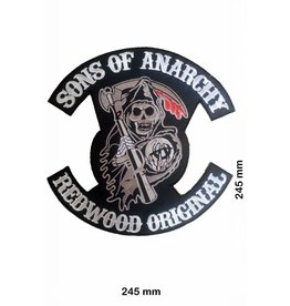 Sons of Anarchy  Sons of Anarchey - rotwood Original - 24 cm -BIGPATCH -