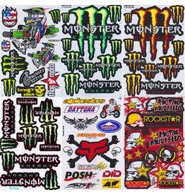 F4 Bögen 6 Sticker Sheets (F4) Energy M.  MIX 6 -