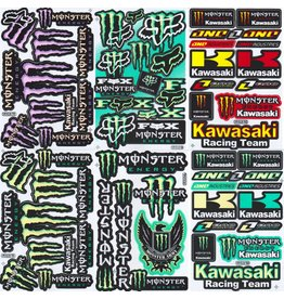 F4 Bögen 6 Sticker Sheets (F4) Energy M.  Kawasaki  MIX 2  -