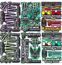 F4 Bögen 6 Sticker Sheets (F4) Energy M.  Kawasaki  MIX 2  -