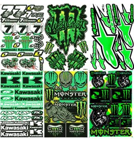 F4 Bögen 6 Sticker Sheets (F4)  KAWASAKI MIX 3 -
