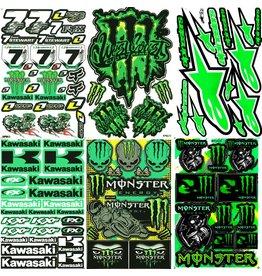 F4 Bögen 6 Sticker Sheets (F4)  KAWASAKI MIX 3 -