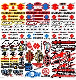 F4 Bögen 6 Sticker Sheets (F4)  SUZUKI MIX 1 -