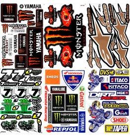 F4 Bögen 6 Sticker Sheets (F4)  YAMAHA MIX 1 -