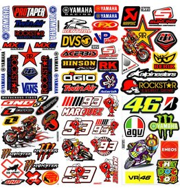 F4 Bögen 6 Sticker Sheets (F4) YAMAHA MIX 2