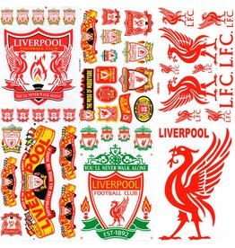 F4 Bögen 6 Sticker Sheets (F4) FC Liverpool -  You'll never walk alone - The Reds - Football Club - Uk Soccer - Fußball