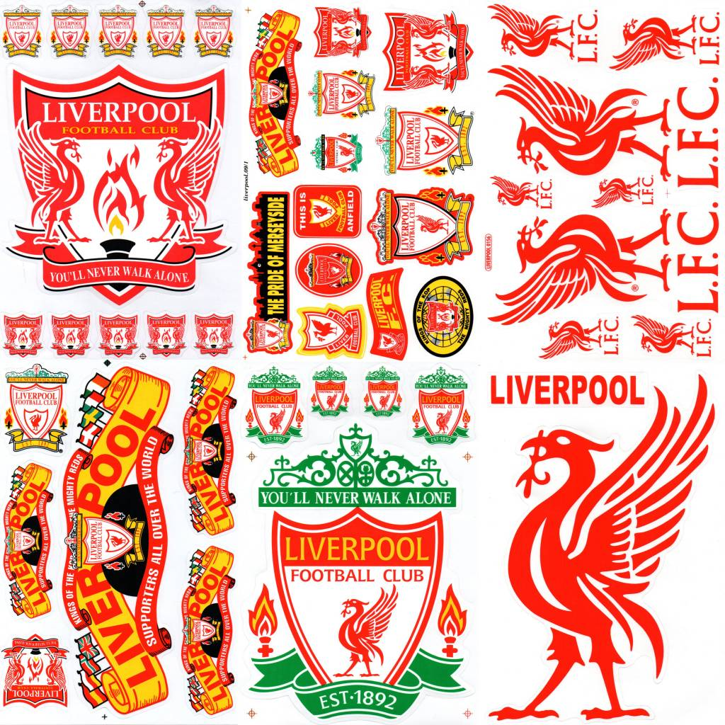 F4 bögen 6 sticker sheets f4 fc liverpool youll never walk alone the reds football club uk soccer fußball patch keychains stickers