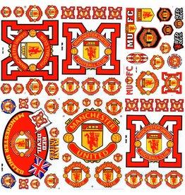 F4 Bögen 6 Aufkleberbögen (F4) Manchester United Football Club - blue- red -Man United - United - Red Devils - Soccer UK - Fußball