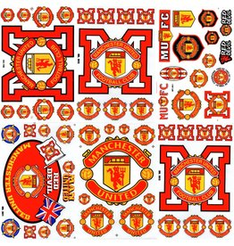 F4 Bögen 6 Sticker Sheets (F4) Manchester United Football Club - blue- red -Man United - United - Red Devils - Soccer UK - Fußball