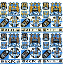 F4 Bögen 6 Sticker Sheets (F4) Manchester City FC - The Citizens - Soccer UK - Fußball