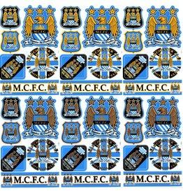 F4 Bögen 6 Sticker Sheets (F4) Manchester City FC - The Citizens - Soccer UK - Fußball