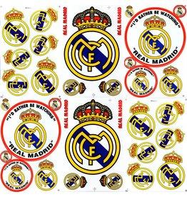 F4 Bögen 6 Sticker Sheets (F4) FC Real Madrid - Krone - Primera División - Soccer Spain - Fußball