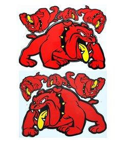 F3 Bögen 2 Aufkleberbögen 2x (F3) Bulldog - rot -