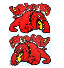 F3 Bögen 2 Sticker Sheets 2x (F3) Bulldog - red -