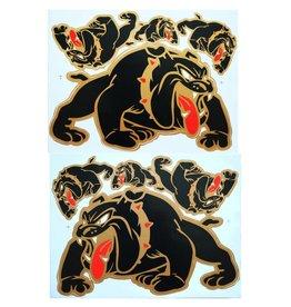 F3 Bögen 2 Aufkleberbögen 2x (F3) Bulldog - schwarz -