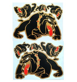 F3 Bögen 2 Sticker Sheets 2x (F3) Bulldog - black -