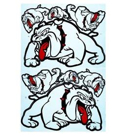 F3 Bögen 2 Aufkleberbögen 2x (F3) Bulldog - weiss-