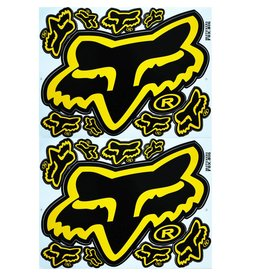 F3 Bögen 2 Aufkleberbögen 2x (F3) FOX gelb/schwarz-