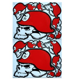 F3 Bögen 2 Sticker Sheets 2x (F3) Metal Mulisha red-