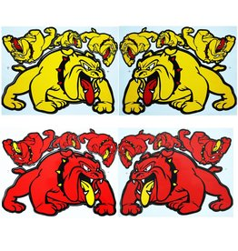 F3 Bögen 4 Sticker Sheets 4x (F3) Bulldog Mix 1