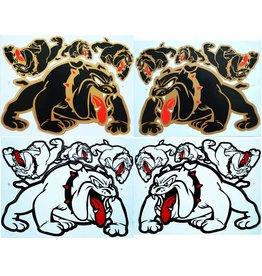 F3 Bögen 4 Sticker Sheets 4x (F3) Bulldog Mix 2 -