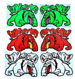 F3 Bögen 6 Sticker Sheets 6x (F3) Bulldog Mix 3 -