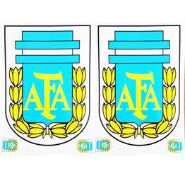 F3 Bögen 2 Aufkleberbögen (F3) Argentinische Fußballnationalmannschaft - La albiceleste - Die Weiß-Himmelblauen -   Argentinien Soccer - Fußball