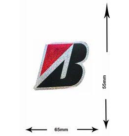#Mix Bridgestone B - 2 pieces  - glitter effect - red  -