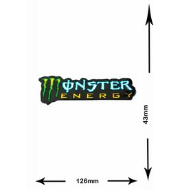 Monster Energy Energy Drink  - Monster Energy - 2 Stück  - Metalleffekt - grün - green -
