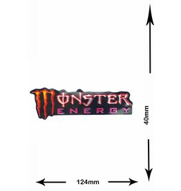 Monster Energy Energy Drink  M. - 2 pieces  - metal effect - red- red -