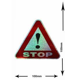 #Mix STOP - Big - 2 Stück  - Glitzereffekt - red - rot  -