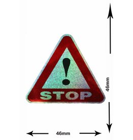 #Mix STOP - small - 3 pieces  - glitter effect - red  -