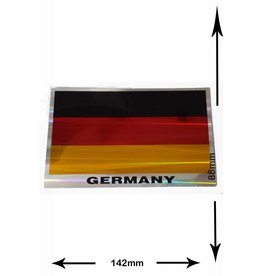 #Mix Deutschland Flagge - Germany Flag - 2 Stück  - Metalleffekt -