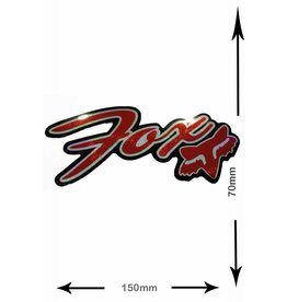 Fox FOX - font with Head - 2 pieces  - black- red - glitter effect -