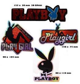#Mix Playboy - red  - 4 piece  - 1x 3D Sticker - 3x  glitter effect -