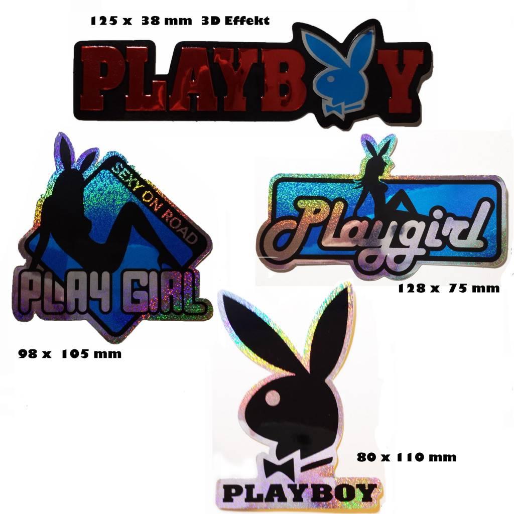 Mix Playboy Rot 4 Stück 1x 3d Aufkleber 3x Glitzereffekt