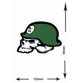 Monster Energy Metal Mulisha - Monster Energy - Totenkopf mit Helm- 2 Stück  -