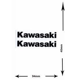 Kawasaki Kawasaki - 2 sheets with complet 4 Stickers- black
