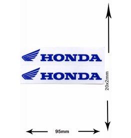 Honda HONDA - 2  Bögen insgesamt 4 Aufkleber - small - blau - blue -