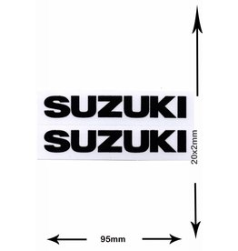 Suzuki SUZUKI - 2 sheets with complet 4 Stickers - small - black