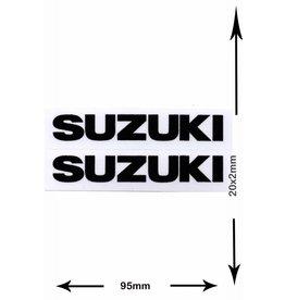 Suzuki SUZUKI - 2 sheets with complet 4 Stickers - small - black