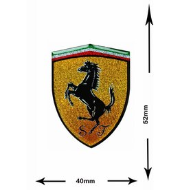 Ferrari Ferrari - 3D Sticker mit Glitzer - Wappen - small -