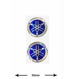 Yamaha Yamaha - 3D 2 Stück - blau -blue - Wappen