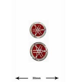 Yamaha Yamaha - 3D 2 Stück - rot - red - Wappen
