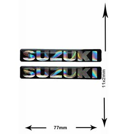 Suzuki SUZUKI - 3D square - 2 pieces - black