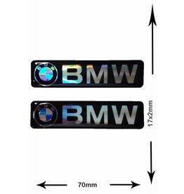 BMW BMW - 3D 2 Stück - Schwarz - Schrift und Logo - black