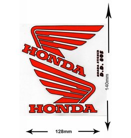 Honda HONDA - 2 sheets with complet 4 Stickers -  red -