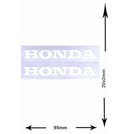 Honda HONDA - 2 sheets with complet 4 Stickers -  white -